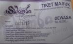 Tiket masuk Curug, Murah sekali hanya Rp 5000/ Orang