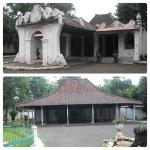 Tampak luar bangunan yang ada di Keraton Cirebon